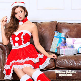 ジュエルズ(JEWELS)の新品 定価¥12,000 サンタ コスプレ バニー キャバドレス 5点セット(衣装一式)