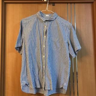 ジーユー(GU)のストライプシャツ(シャツ/ブラウス(半袖/袖なし))