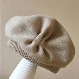 ネストローブ(nest Robe)のマチュアーハ  mature ha. ベレー帽 ベージュ タック&ギャザー 帽子(ハンチング/ベレー帽)