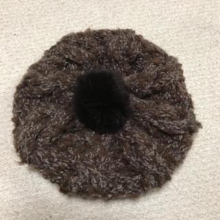 シマムラ(しまむら)のニット帽子☆ラビットファー(ニット帽/ビーニー)