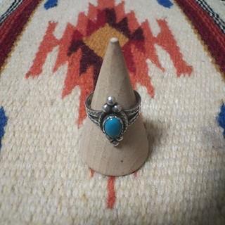 インディアンジュエリー ナバホ族トレーディングポスト ターコイズ シルバーリング(リング(指輪))