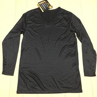 メンズV首インナー黒L Lサイズ(Tシャツ/カットソー(七分/長袖))