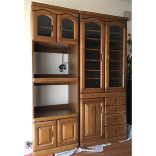 オオツカカグ(大塚家具)の食器棚、レンジ台(収納/キッチン雑貨)