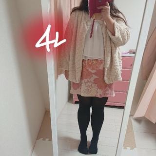 新品タグ付き❤️4L☆ドレスにぴったり◆薔薇モチーフのファーコート(毛皮/ファーコート)