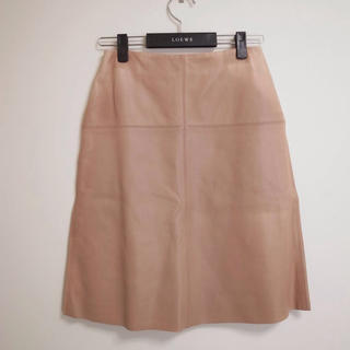 ロエベ(LOEWE)の美品♡ロエベ レザースカート♡(ひざ丈スカート)