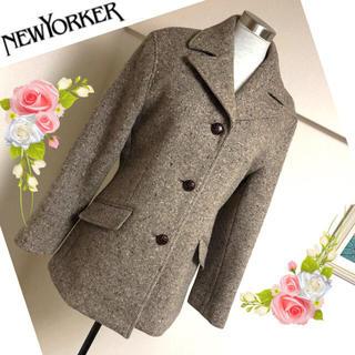 ニューヨーカー(NEWYORKER)のニューヨーカーの飾りボタンのジャケット風ショートコート◆11号(ピーコート)