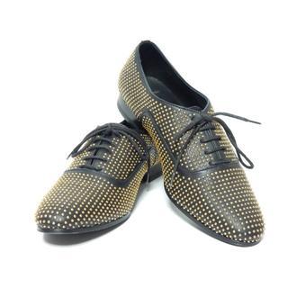 サンローラン(Saint Laurent)の極上美品!サンローランSAINTLAURENTゴールドスタッズレースシューズ37(ローファー/革靴)