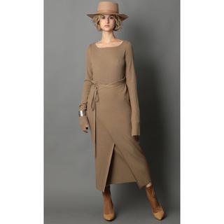 ナイン(NINE)のNINE ナイン Apron Knit Dress エプロンドレス(ロングワンピース/マキシワンピース)