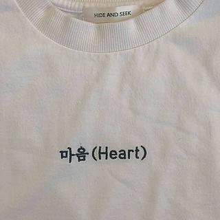 ハイドアンドシーク(HIDE AND SEEK)のハングル長袖Tシャツ(Tシャツ(長袖/七分))