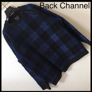 バックチャンネル(Back Channel)の◆レア◆バックチャンネル◆ビッグシルエット パッチワーク ネル プルオーバー L(スウェット)