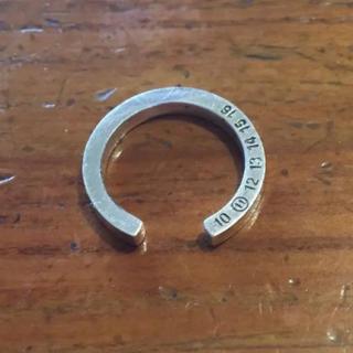 マルタンマルジェラ(Maison Martin Margiela)のマルジェラ シルバーリング(リング(指輪))