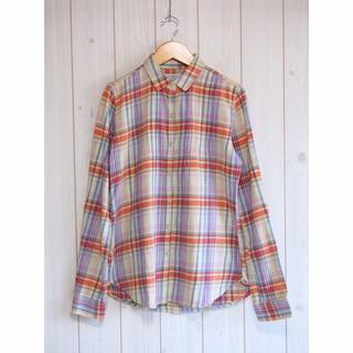 トロヴァータ(TROVATA)のTROVATA トロヴァータ ピンタック チェックシャツ(シャツ/ブラウス(半袖/袖なし))