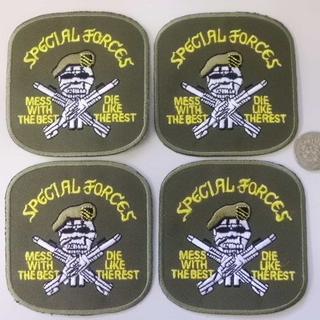 ミリタリー刺繍ワッペン 4枚セット ARMY(襟章)