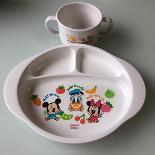 ディズニー(Disney)のディズニー  お食事プレート&カップ(プレート/茶碗)