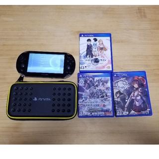 プレイステーションヴィータ(PlayStation Vita)のPrayStation Vita ゲームソフト3点 メモリーカード付き16GB(携帯用ゲーム機本体)
