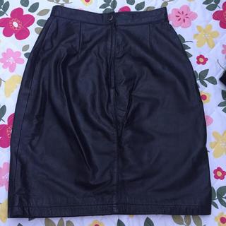 インディオ(indio)のレザースカート タイトスカート(ひざ丈スカート)