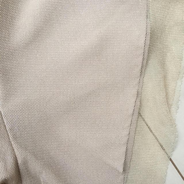 merlot(メルロー)のmerlotplus ラメチュールウエストリボンワンピース レディースのフォーマル/ドレス(ロングドレス)の商品写真
