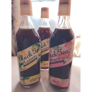 カルディ(KALDI)のカルディー ブラックティー レモン&ピーチ2本ずつ(茶)
