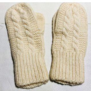 手編み☆ミトン手袋(手袋)