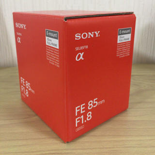 ソニー(SONY)の【新同品】FE 85mm F1.8 SEL85F18(レンズ(単焦点))