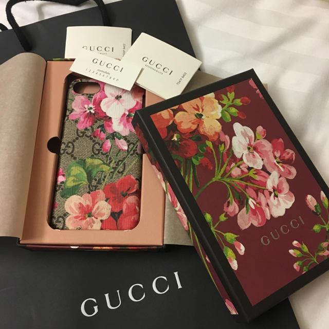 Gucci - 新品 GUCCI グッチ GGブルームス  携帯ケース iPhone 6 7 8の通販 by Tay|グッチならラクマ