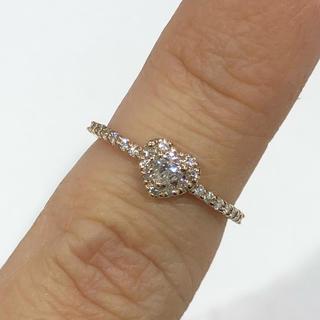 値下げ♡K18PG ハートモチーフ ダイヤモンド リング(リング(指輪))