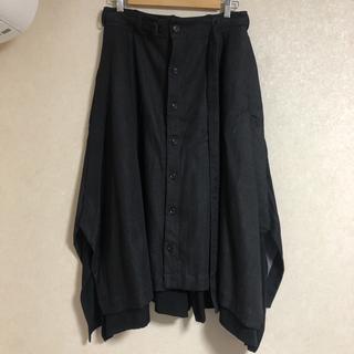 ヨウジヤマモト(Yohji Yamamoto)のヨウジヤマモト 18aw look37 コウモリスカートパンツ(サルエルパンツ)