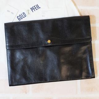 ゴールドファイル(GOLD PFEIL)の美品 ゴールドファイル ☆ オックフォード レザー ドキュメントケース(ビジネスバッグ)