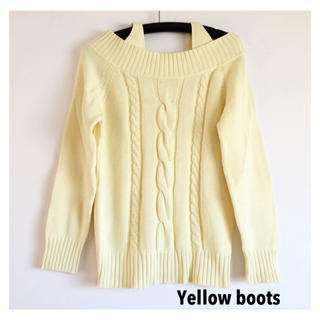 イエローブーツ(Yellow boots)の【送料込】イエローブーツ オフショルニット セーター(ニット/セーター)
