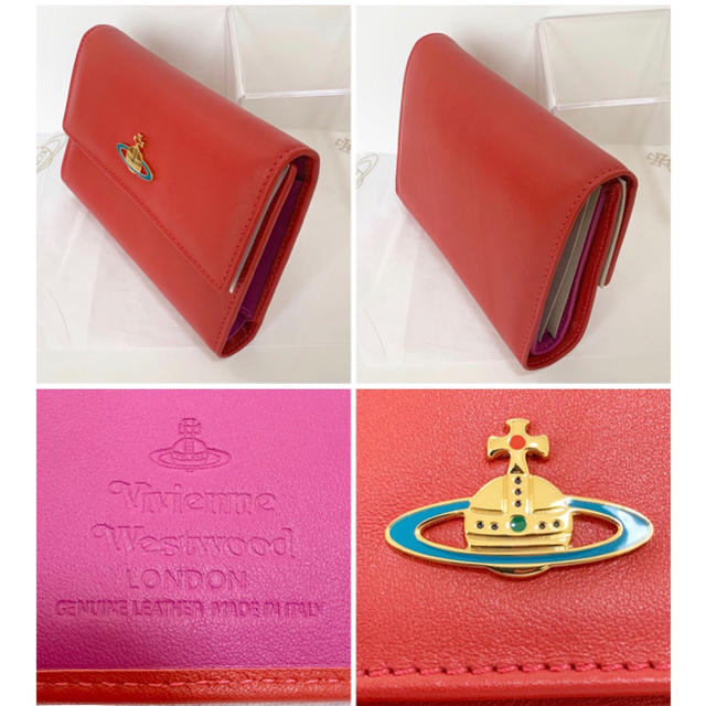 Vivienne Westwood(ヴィヴィアンウエストウッド)の大人気!【訳あり・新品】Vivienne Westwood 二つ折財布 本物 レディースのファッション小物(財布)の商品写真