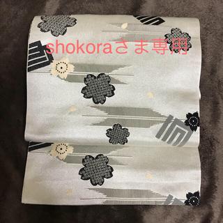 京袋帯 ベージュグレーに桜と源氏香(帯)