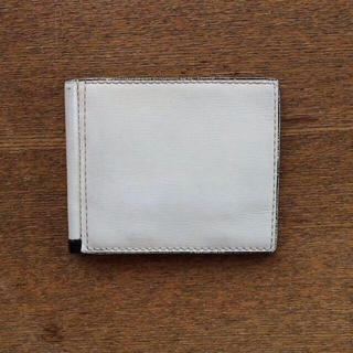 ヴァレクストラ(Valextra)のValextra(ヴァレクストラ) 二つ折り財布 マネークリップ アイボリー(折り財布)