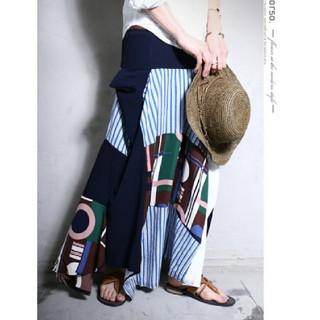 アンティカ(antiqua)のお値下げ サイト完売品 antiqua ロング スカート アシメ 切り替え 変形(ロングスカート)