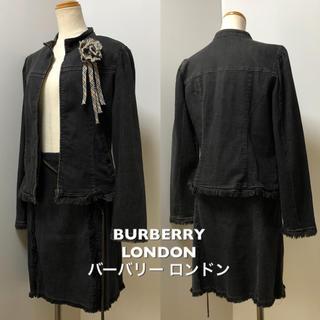 バーバリー(BURBERRY)の正規品 バーバリー ロンドン デニム スーツ コサージュ ベルト 付き160A(スーツ)