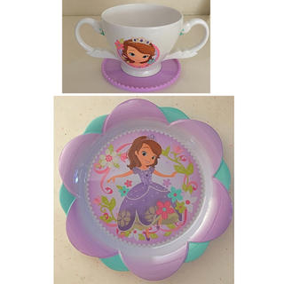 ディズニー(Disney)のソフィア メラミンプレート&コップ(プレート/茶碗)