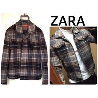 ザラ(ZARA)のZARA ウールジャケット コート チェック柄 ブルゾン ザラ H&M ASOS(ブルゾン)