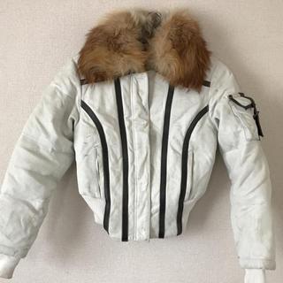 チップアンドペッパー(CHIP AND PEPPER)のチップアンドペッパー ファー 革ジャケット ショート 凄い暖かい ダメージ加工(毛皮/ファーコート)