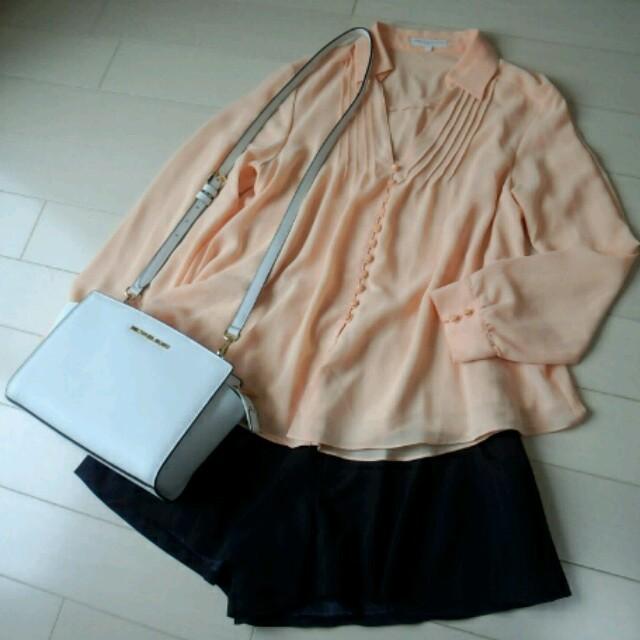 PROPORTION BODY DRESSING(プロポーションボディドレッシング)のプロポーション♡とろみシャツ♡オレンジ レディースのトップス(シャツ/ブラウス(長袖/七分))の商品写真