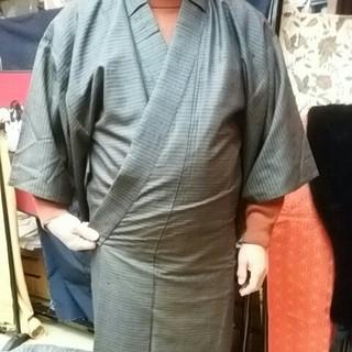 男性ウールの着物、袷(着物)
