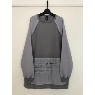 ラフシモンズ(RAF SIMONS)のLiam Hodges 再構築 sweatshirt グレー 灰色 Mサイズ(スウェット)