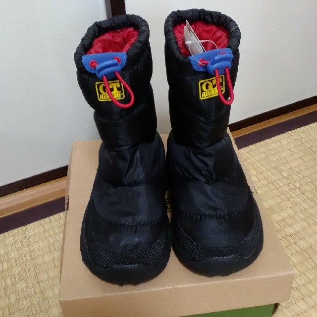 G.T. HAWKINS(ジーティーホーキンス)の新品未使用品 GT HAWKINS  19  黒 スノー ブーツ ホーキンス   キッズ/ベビー/マタニティのキッズ靴/シューズ (15cm~)(ブーツ)の商品写真
