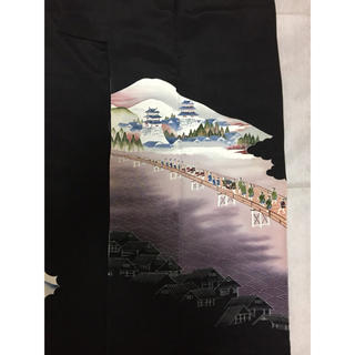 タケヤ(竹屋)のしつけ付き 黒留袖 正絹 着物 (花菱紋) 竹屋 結婚式用(着物)