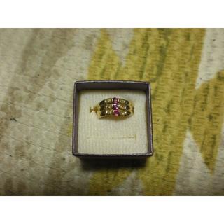 K18 18金ゴールドルビーリング 指輪(リング(指輪))