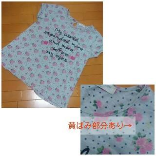 シマムラ(しまむら)の3L(XXL) 花柄ドットTシャツ(Tシャツ(半袖/袖なし))