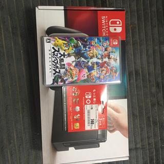 ニンテンドースイッチ(Nintendo Switch)のswitch グレー スマブラ付き(家庭用ゲーム本体)