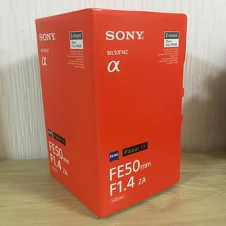 ソニー(SONY)の【新同品】Planar T* FE 50mm F1.4 ZA SEL50F14Z(レンズ(単焦点))