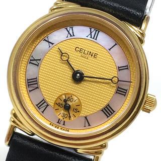 セリーヌ(celine)のセリーヌ 値引き可 CELINE クォーツ 電池交換済 動作品 美品 正規品(腕時計)