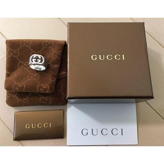 グッチ(Gucci)のGucci ダブル Gロゴ ワイドリング 14号 SV925(リング(指輪))