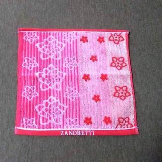 ザノベッティー(ZANOBETTI)の●ザノベティーのピンクのハンカチ。タオル地(ハンカチ)
