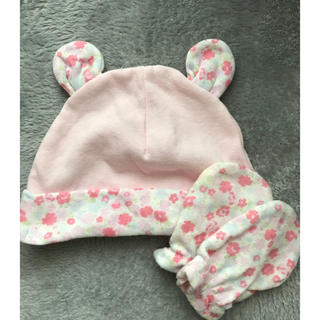 シマムラ(しまむら)の新生児 帽子 ミトン(帽子)